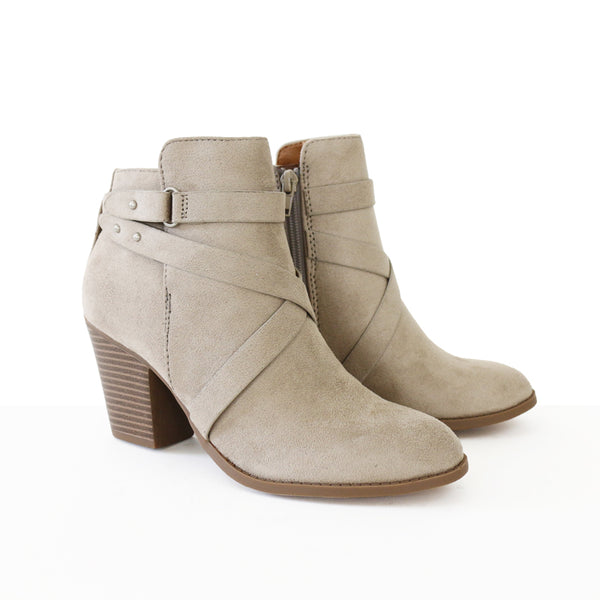 groovy-faux suede-clay-booties