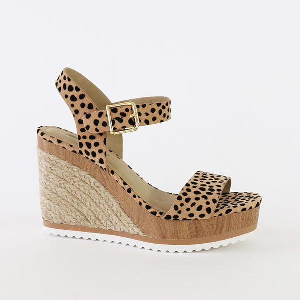 issue cheetah-print neutral wood jute wedge espadrille