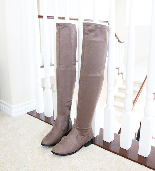 7b1363b684a jingo-taupe-micro strech suede-over knee boots – trendyoak
