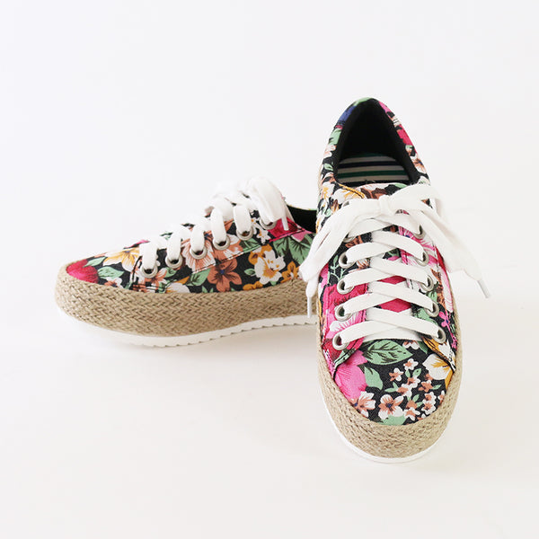 keana floral canvas espadrille sneakers