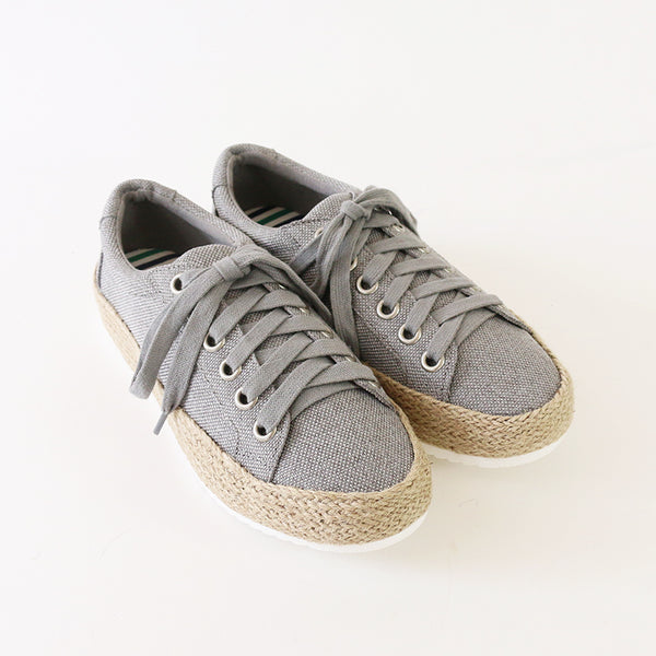keana grey canvas flatform sneakers