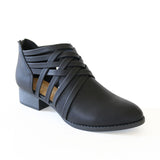 kenning-black-weaving-faux leather-booties