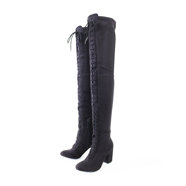 miso-black-over knee boots
