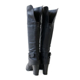 nature-black-knee hi boots