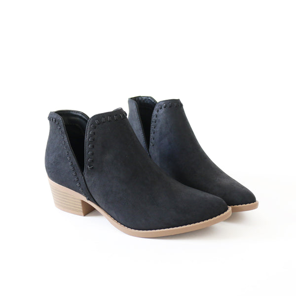 nerys nubuck black ankle boots booties