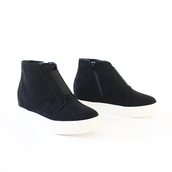 pointer black wedge Booties sneakers