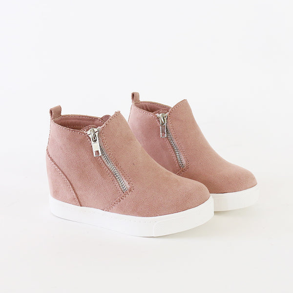 taylor kids mauve wedge sneakers booties