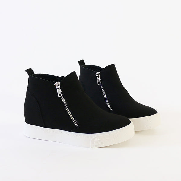 taylor black wedge sneakers