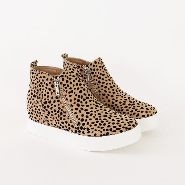 taylor leopard wedge sneakers booties