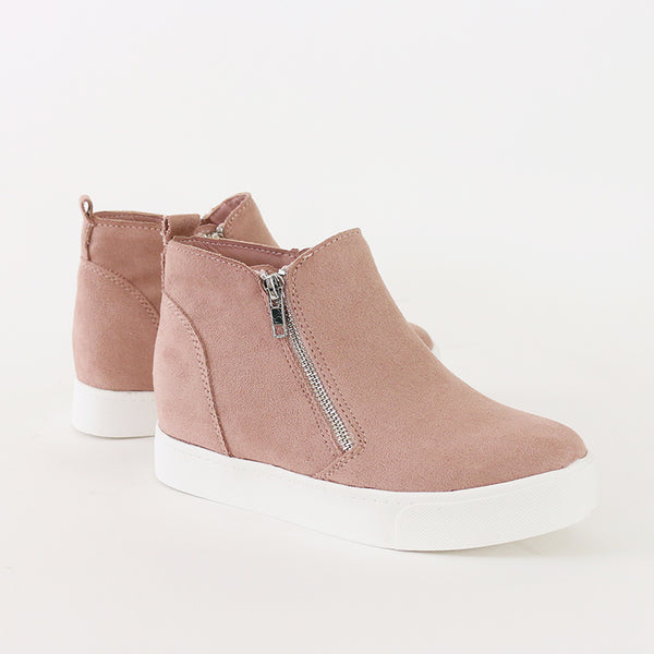 taylor mauve wedge sneakers booties