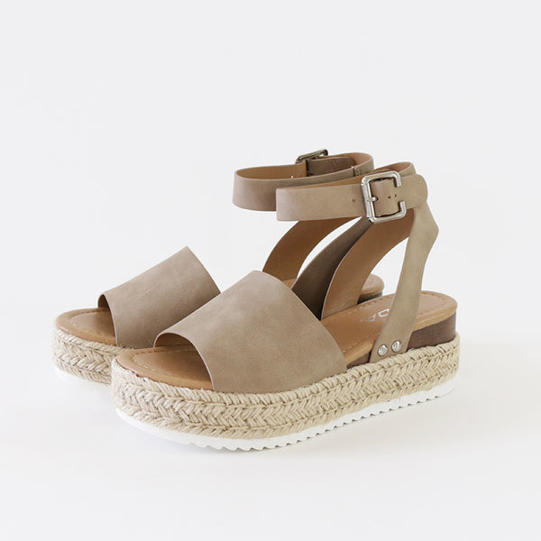 topic dark natural ankle strap flatform sandal espadrilles