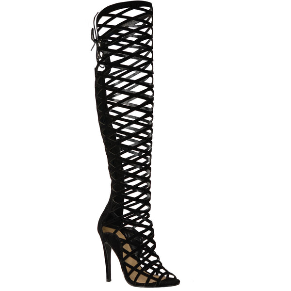 witness-black-gladiator sandal