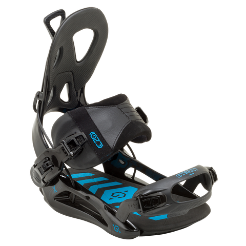 GNU Street Bindings Black 2015 , Snowboard Bindings - GNU, Concrete Wave