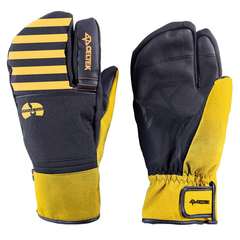 Celtek Trippin Wu Tang Lobster Claw S / Black/Yellow, Gloves/ Mittens - Celtek, Concrete Wave