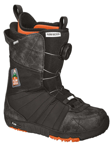 Flow Micron Boa Boots Youth Black 2015 , Snowboard Boots - Flow, Concrete Wave