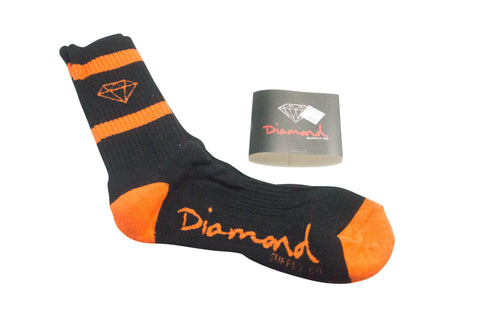 Diamond Supply Co Rock Sport Socks Blue/ Orange , Socks - Diamond Supply Co, Concrete Wave