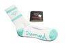 Diamond Supply Co Rock Sport Socks White/ Diamond Blue , Socks - Diamond Supply Co, Concrete Wave
