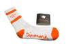 Diamond Supply Co Rock Sport Socks White/ Orange , Socks - Diamond Supply Co, Concrete Wave