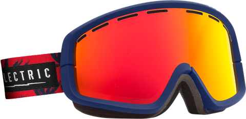Electric EGB2 Blue Fronds +BL Bronze/ Red Chrome Goggles One Size, Goggles - Electric, Concrete Wave - 1