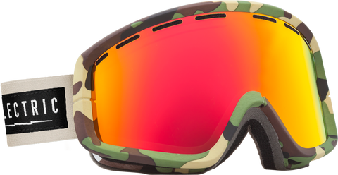 Electric EGB2 Hemp +BL Bronze/ Red Chrome Goggles One Size, Goggles - Electric, Concrete Wave - 1