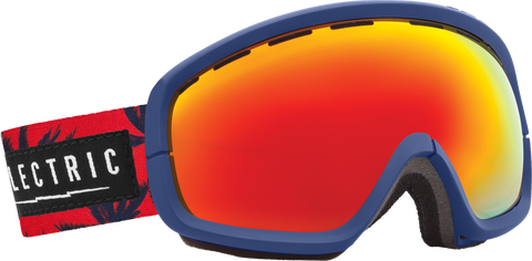 Electric EGB2s Blue Fronds +BL Bronze/ Red Chrome Goggles One Size, Goggles - Electric, Concrete Wave - 1