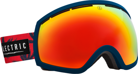 Electric EG2 Blue Fronds +BL Bronze/ Red Chrome Goggles One Size, Goggles - Electric, Concrete Wave - 1