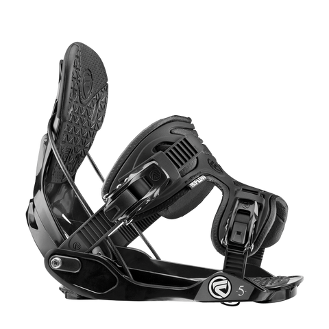 Flow Five Bindings Black 2015 M, Snowboard Bindings - Flow, Concrete Wave