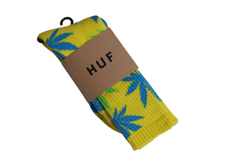 Huf Plantlife Crew Socks Yellow/ Blue/ Green , Socks - Huf, Concrete Wave