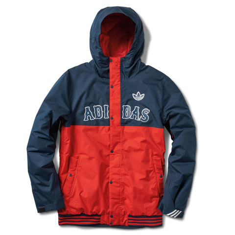 adidas Greeley Insulated Snowboard Jacket Collegiate Navy/ Red 2016 , Jacket - Adidas Skateboarding, Concrete Wave