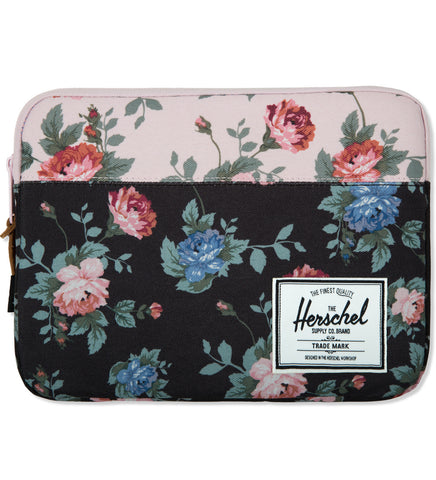 Herschel Supply Co Anchor Sleeve for iPad Air Black Floral/ Pink Floral , Bags - Herschell Supply Co, Concrete Wave