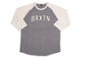 Brixton Hamilton 3/4 Sleeve T shirt Heather/ Off White M / Heather Grey, T Shirt - Brixton, Concrete Wave