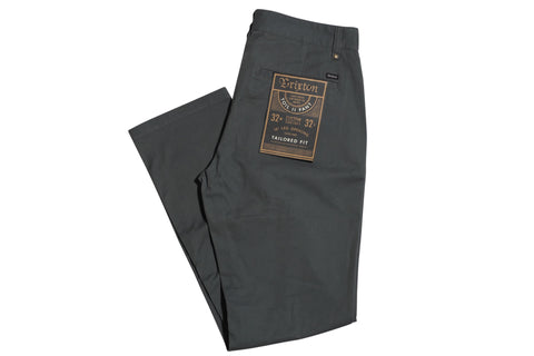 Brixton Toil II Chino Grey , Bottoms - Brixton, Concrete Wave