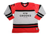 Crooks & Castles Hijacker Hockey Jersey Red , Shirts - Crooks & Castles, Concrete Wave - 1
