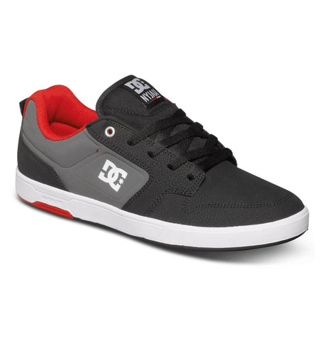DC Nyjah Low Top Black/ Red/ Grey Sneakers , Sneakers - DC, Concrete Wave