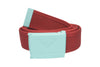 Diamond Supply Co OG Logo Clamp Belt Red/ Diamond Blue , Belts - Diamond Supply Co, Concrete Wave