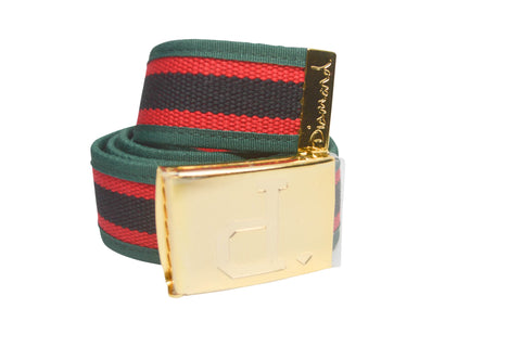 Diamond Supply Co Un Polo Clamp Belt Red/ Green , Belts - Diamond Supply Co, Concrete Wave