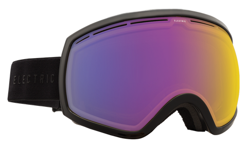 Electric EG2 Gloss Black/Yellow Blue Chrome Snow Goggles 2016 One Size / Gloss Black, Goggles - Electric, Concrete Wave - 1