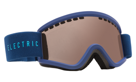 Electric Youth EGV.K Navy Cyan/ Bronze Snow Goggles 2016 One Size / Navy Cyan, Goggles - Electric, Concrete Wave
