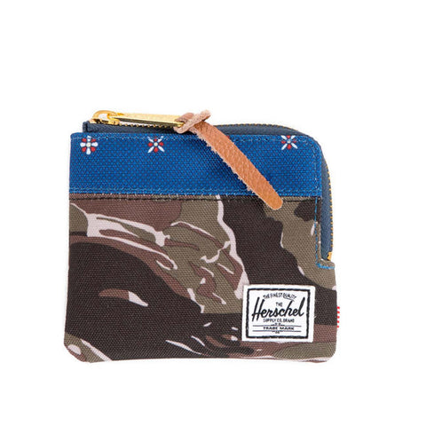 Herschell Supply Co Johnny Wallet Tiger Camo/ Hyde Default Title / Tiger Camo/ Hyde Blue, Bags - Herschell Supply Co, Concrete Wave - 1