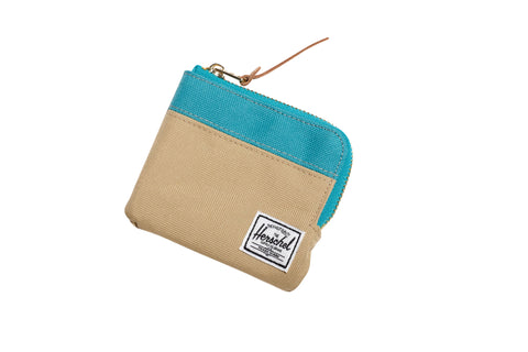 Herschell Supply Co Johnny Wallet Khaki/ Teal Default Title / Khaki/ Teal, Bags - Herschell Supply Co, Concrete Wave - 1