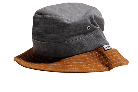 Huf Chambray Field Bucket Hat Black L/XL / Black, Hat - Huf, Concrete Wave