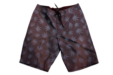 Huf Reflective Plantlife Board Shorts Wine , Shorts - Huf, Concrete Wave - 1