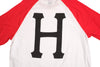 Huf Classic Big H Logo Red/ White Raglan , T Shirt - Huf, Concrete Wave - 2