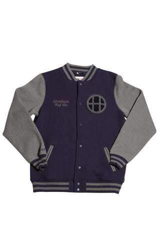 Huf Circle H Varsity Jacket M / Navy, Sweatshirts - Huf, Concrete Wave - 1