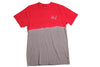 Huf Dip Dye Short Sleeve T Shirt Red/ Grey , T Shirt - Huf, Concrete Wave