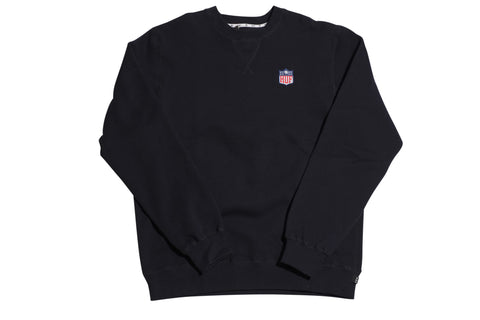 Huf Football Logo Navy Crewneck Sweatshirt , Sweatshirts - Huf, Concrete Wave - 1