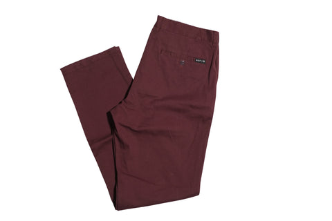 Huf Fulton Wine Chino Pants 32 / Wine, Bottoms - Huf, Concrete Wave