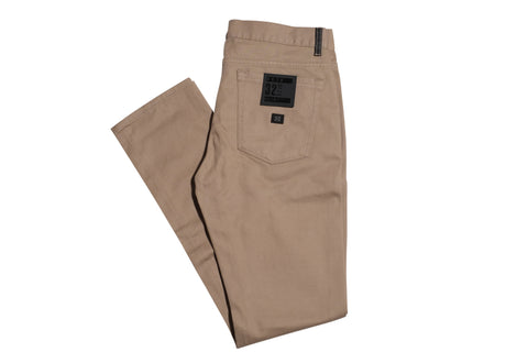 Krew K Slim 5 Pocket Dark Khaki , Bottoms - Krew, Concrete Wave