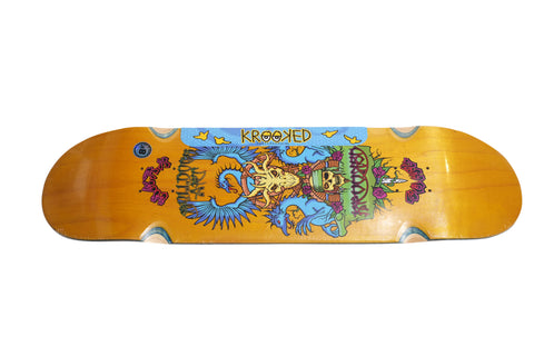 Krooked Wes Humpston Guest Large Skateboard Deck , Decks - Krooked, Concrete Wave