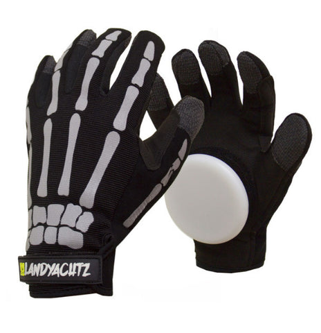 Landyachtz Bones Slide Gloves M / Black, Longboard Accessories - Land Yachtz, Concrete Wave